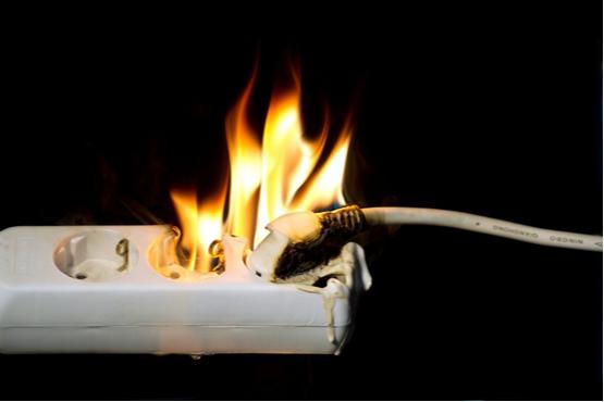 Cháy chập nguồn điện